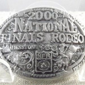 National Finals Rodeo 2000 Hesston Belt Buckle